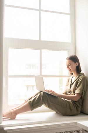 Woman on window