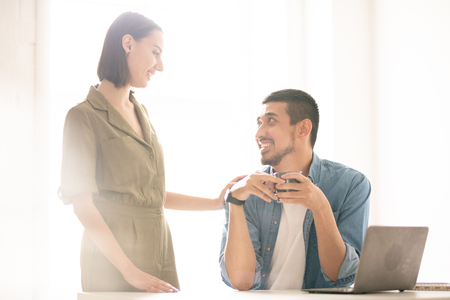 Affectionate spouses Stock Photo