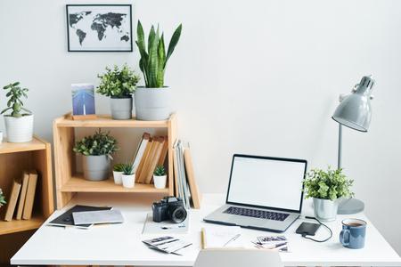 Workplace of modern designer