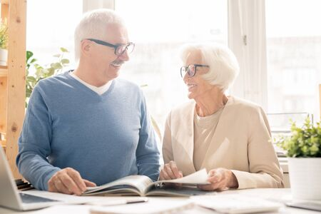 Couple with magazine