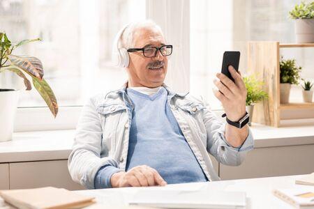 Video in smartphone Stock Photo