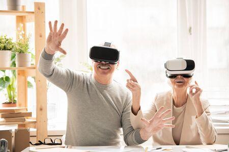 Seniors in virtual reality