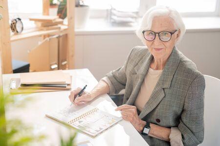 Aged businesswoman