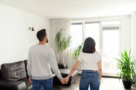 Small flat for young couple Stock Photo