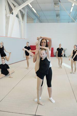 Cheerleading class in school