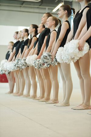 Participants of cheerleading competition