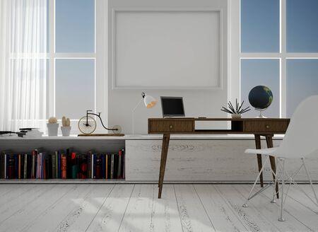 Mock up interior, 3d illustration Stock fotó