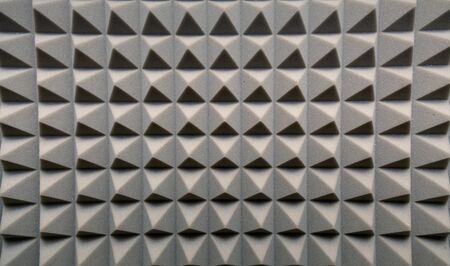 acoustical: Dampening acoustical foam on recording studio wall
