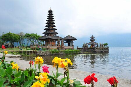 bratan: Famous Ulun Danu Bratan temple in Bali, Indonesia Stock Photo