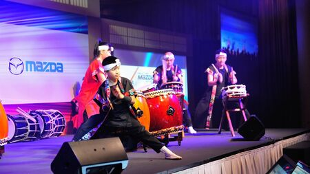 crossover: Drum performance during the launch of Mazda CX-5 crossover SUV in Singapore on 13 Apr 2012