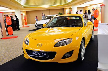 mx: Mazda MX-5 roadster on display at the launch of Mazda CX-5 crossover SUV in Singapore on 13 Apr 2012 Editorial
