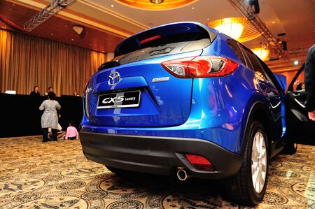 Rear of new Mazda CX-5 at its launch in Singapore on 13 Apr 2012 Stock Photo - 13161254