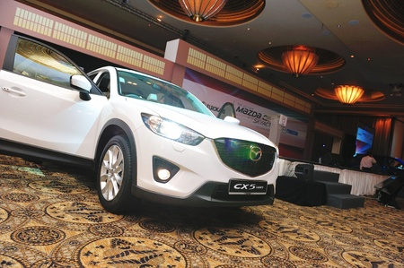 Mazda CX-5 crossover SUV at its launch in Singapore on 13 Apr 2012 Stock Photo - 13161251
