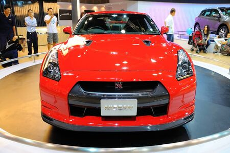 nissan: Nissan GTR sports car on display during the Singapore Motorshow on October 4, 2008 in Singapore