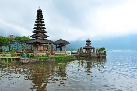 ulun: Famous Ulun Danu Bratan temple in Bali, Indonesia Stock Photo