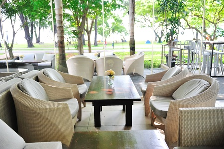 garden furniture: Casual dining area in a park