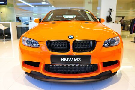 coupe: Static display of BMW M3 GTS sports coupe at Munich Automobiles BMW Service Centre Open House on May 21, 2011 in Singapore