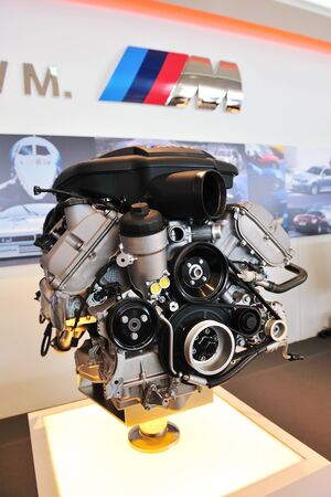Engine of a BMW M car at Munich Automobiles BMW Service Centre Open House on May 21, 2011 in Singapore