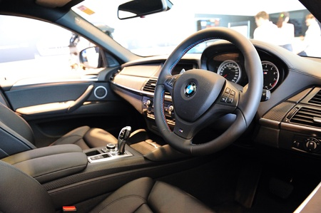 Interior of BMW X6 M at Munich Automobiles BMW Service Centre Open House on 21 May 2011 in Singapore