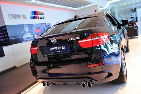 Static display of BMW X6 M at Munich Automobiles BMW Service Centre Open House on May 21, 2011 in Singapore Stock Photo - 13266433