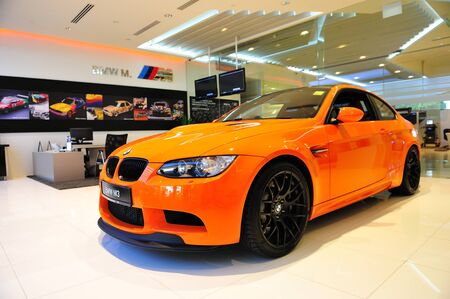 Static display of BMW M3 GTS sports coupe at Munich Automobiles BMW Service Centre Open House on May 21, 2011 in Singapore Stock Photo - 13266450