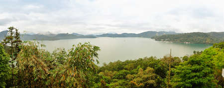 Panoramic view of famous Sun Moon lake in Taiwan photo