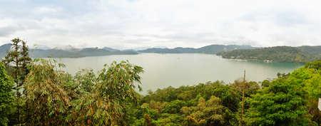 Panoramic view of famous Sun Moon lake in Taiwan photo