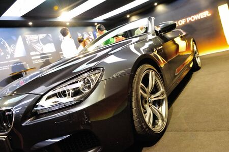 Front of BMW M6 Convertible at its Preview at Singapore Yacht Show April 28, 2012 in Singapore