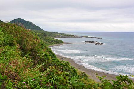 Scenic east coast shore line of Taiwan photo