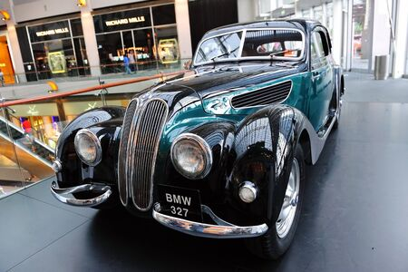 Classic BMW 327 at BMW World Singapore 2010 at Marina Bay Sands Expo November 14, 2010 in Singapore Stock Photo - 13668714
