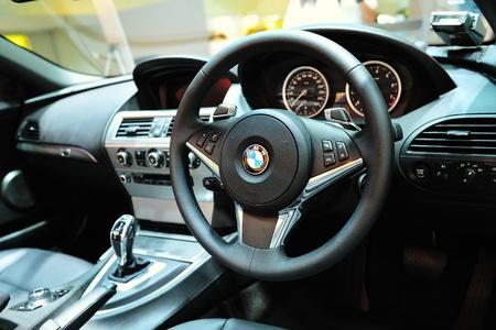 Interior of BMW car at BMW World Singapore 2010 at Marina Bay Sands Expo November 14, 2010 in Singapore Stock Photo - 13668713