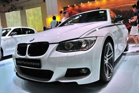 coupe: BMW 335i coupe at BMW World Singapore 2010 at Marina Bay Sands Expo November 14, 2010 in Singapore Editorial