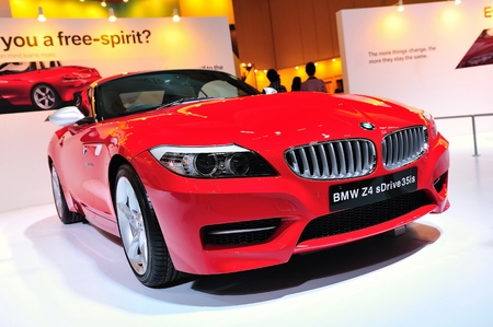 BMW Z4 roadster at BMW World Singapore 2010 at Marina Bay Sands Expo on November 14, 2010 in Singapore Stock Photo - 13668673
