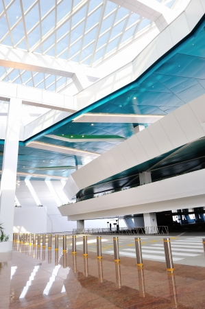 dropoff: Passenger drop-off bay and car park of the new Marina Bay Cruise Center in Singapore