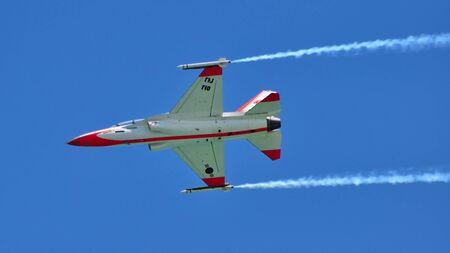 KAI TA-50 Golden Eagle performing stunts during Singapore Airshow February 03, 2010 in Singapore