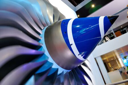 Rolls-Royce presented their trent swept titanium alloy fan at Singapore Airshow February 03, 2010 in Singapore