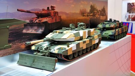 bulldoze: Military tanks on display at Singapore Airshow February 03, 2010 in Singapore