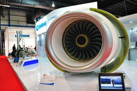 safran: Model of Safran jet engine at Singapore Airshow February 03, 2010 in Singapore Editorial