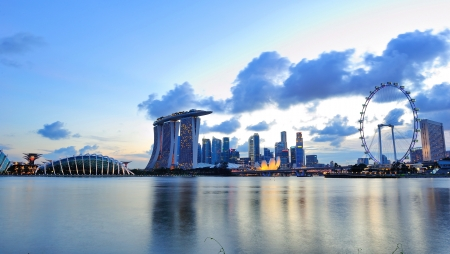 City skyline of Marina Bay Singapore Editorial