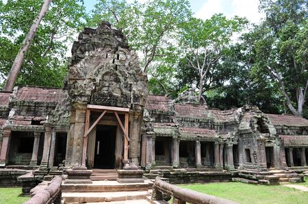 raider: Facade and entrance of Ta Prohm  also known as Tomb Raider  temple in Siem Reap, Cambodia