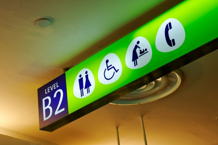 Illuminated signboard photo