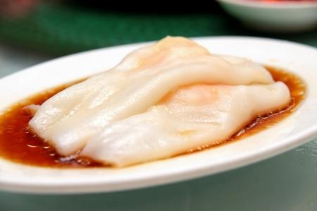 Rice noodle rolls with shrimps Banque d'images