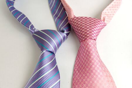 Men s pink and purple contemporary design neck ties Stock Photo - 16897529