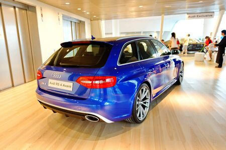 avant: New Audi RS4 Avant on display at the opening of the new Audi Centre Singapore December 15, 2012 in Singapore