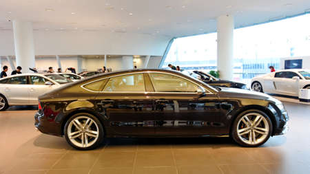 Newly launched Audi S7 sportback on display at the opening of the new Audi Centre Singapore December 15, 2012 in Singapore