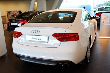 Audi S5 coupe on display at the opening of the new Audi Centre Singapore December 15, 2012 in Singapore