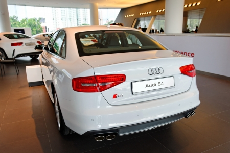Audi S4 sports sedan on display at the opening of the new Audi Centre Singapore December 15, 2012 in Singapore