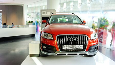 New Audi Q5 luxury crossover SUV on display at the opening of the new Audi Centre Singapore December 15, 2012 in Singapore