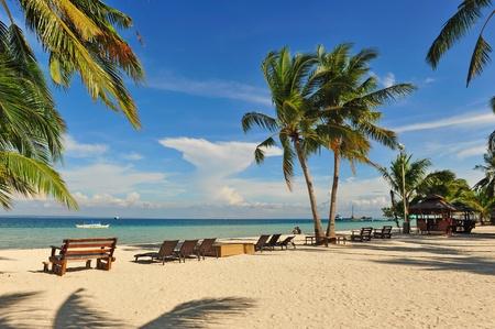 Beautiful beach resort along the coast of Bantayan Island, Cebu, Philippines