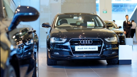 avant: Audi A4 avant on display at the opening of the new Audi Centre Singapore December 15, 2012 in Singapore Editorial